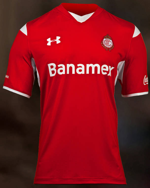 Under Armour Soccer Jeersey - Under Armour Deportivo Toluca FC ...