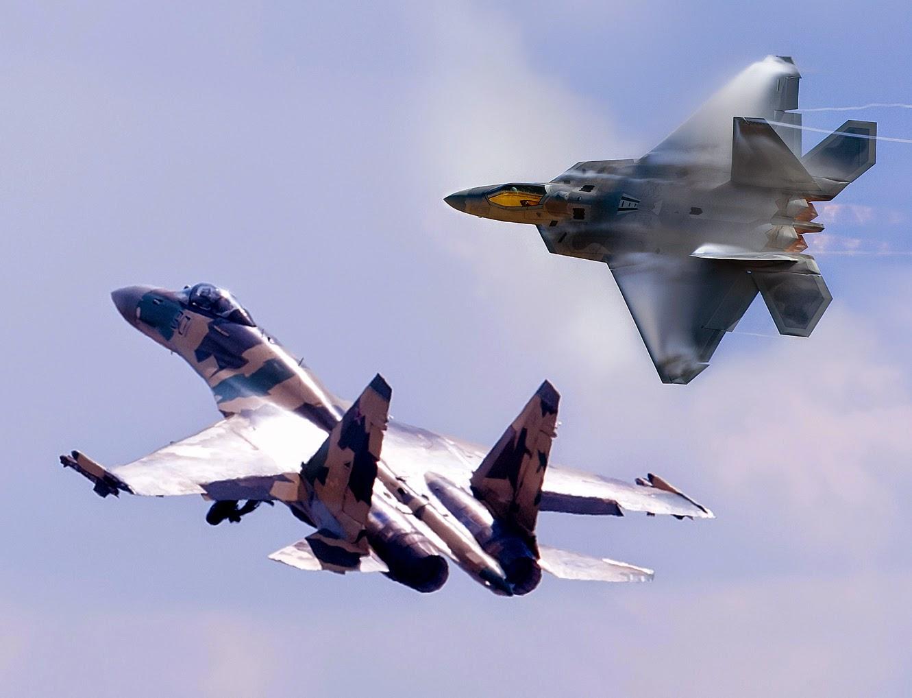 sukhoi su-35 vs f-22 raptor
