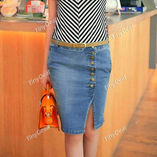сделать увеличить размер джинсовой юбки горячем