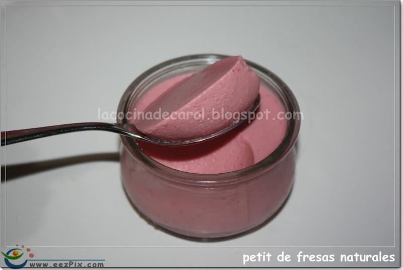 La cocina de carol petit de fresas naturales thermomix - Postres con fresas naturales ...