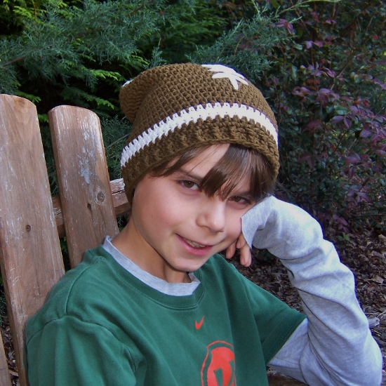 Free Crochet Patterns Free Crochet Pattern Slouchy Football Hat