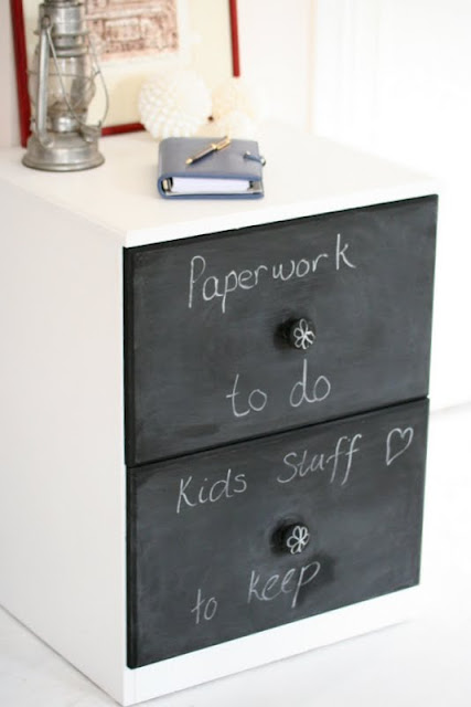 Chalk Board filing cabinet by Lilyfield life