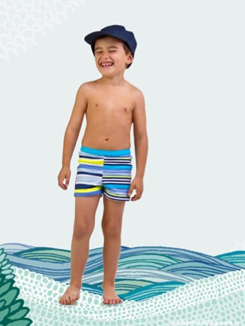 shorts de baño nenes brillantina verano 2014