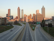 Atlanta skyline just after sunrise