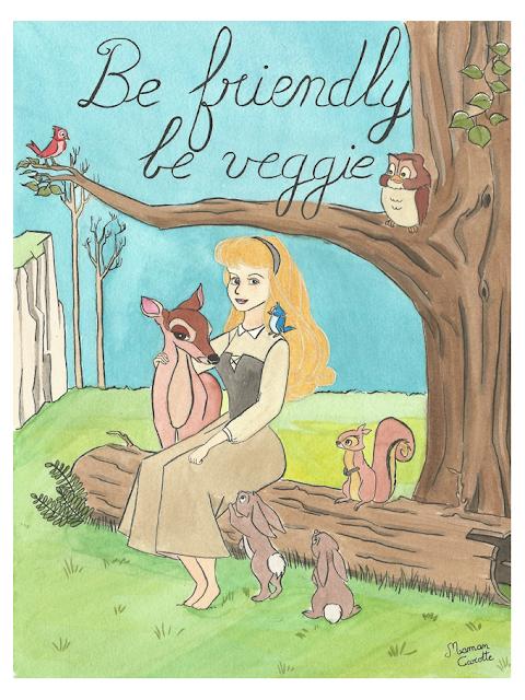 fan-art veggie de Aurore, d'après La Belle au bois dormant de Disney