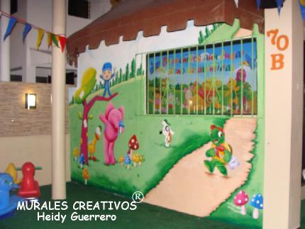 Murales creativos heidy guerrero decoracion guarderia for Puertas decoradas para guarderia