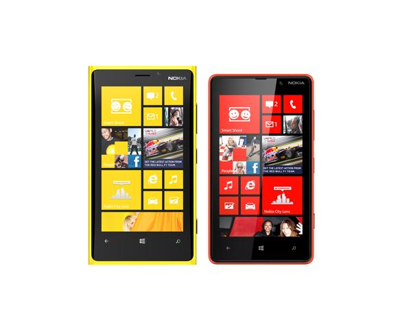 Nokia Lumia 820 dan Lumia 920