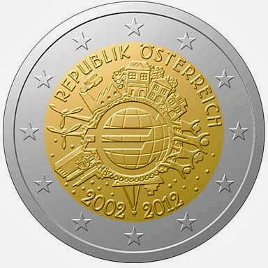 2 euro Austria 2012, Ten years of Euro cash