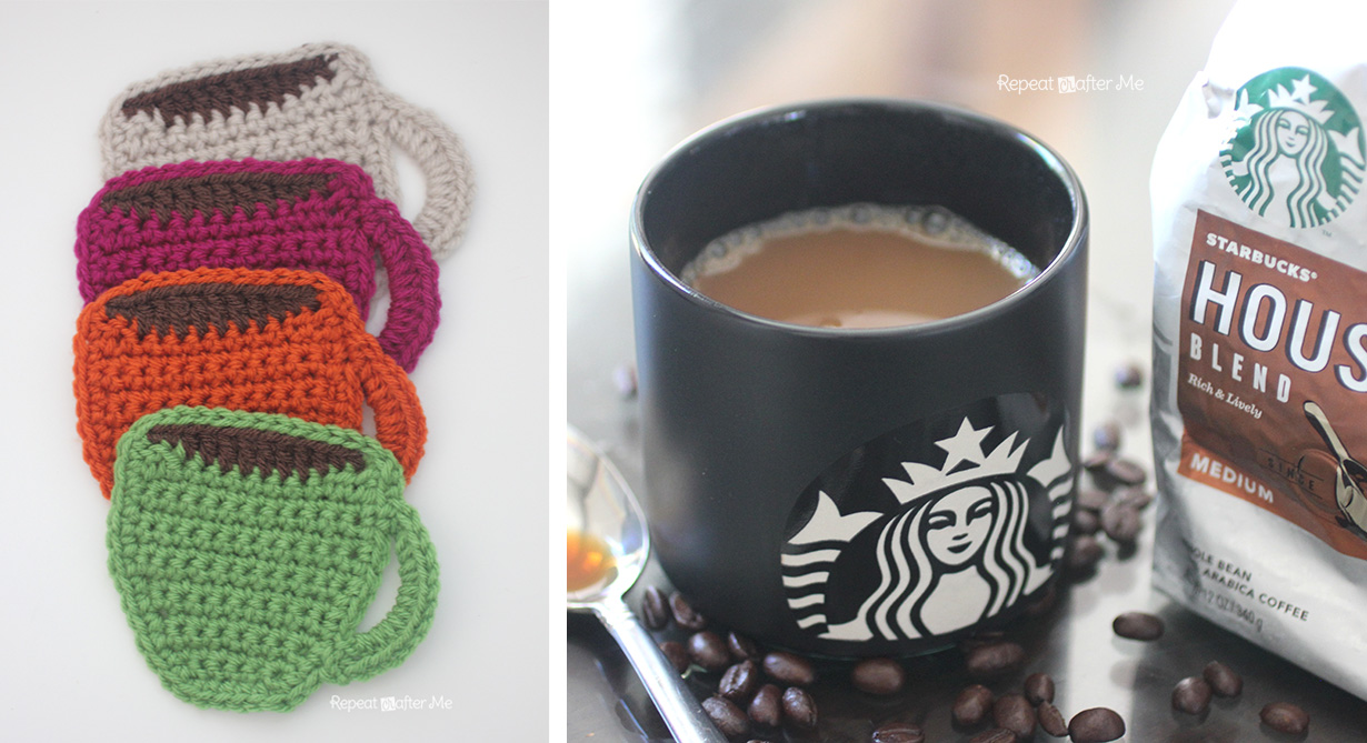 Starbucks Core Coffee Series And Crochet Coffee Coasters