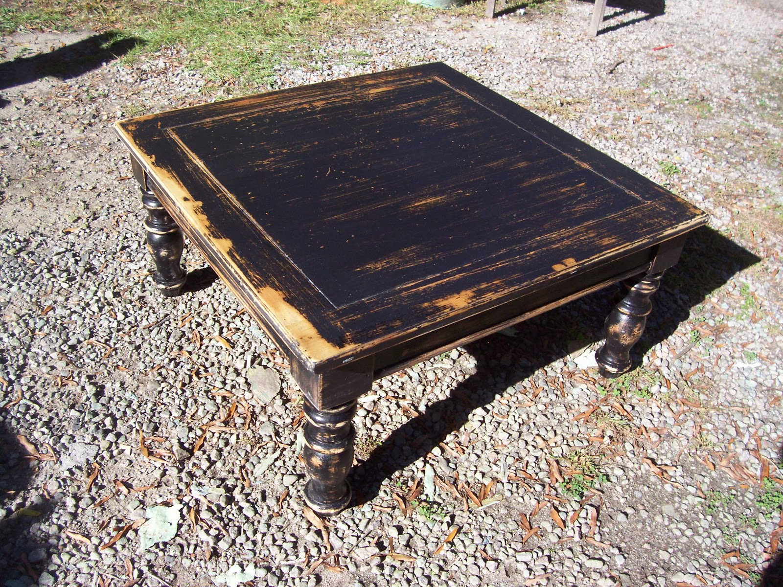 NFS Black Very Distressed Coffee Table