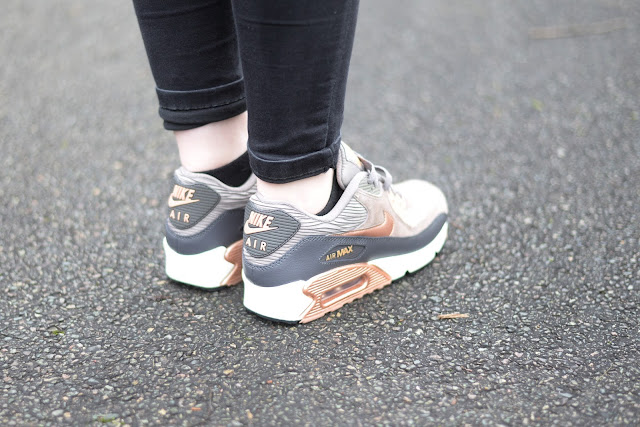 Sammi Jackson - Grey Suede Metallic Bronze Air Max 90's