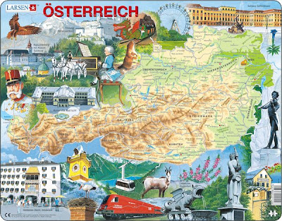 Physical Map of Austria