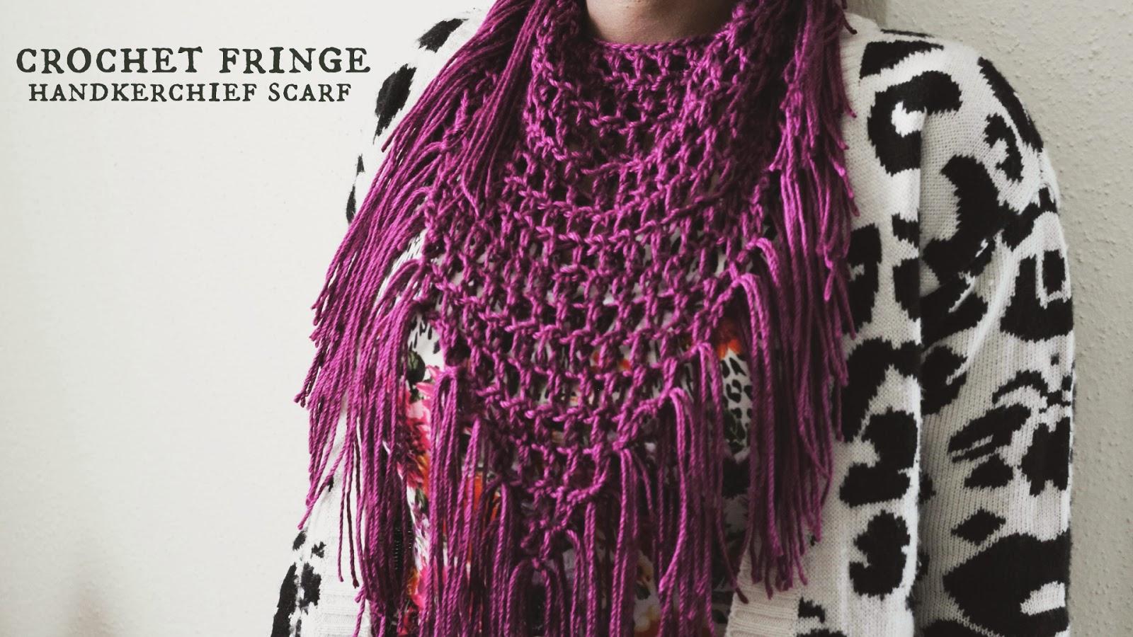 the dream crochet blog.: DIY: Crochet Fringe Handkerchief Scarf.