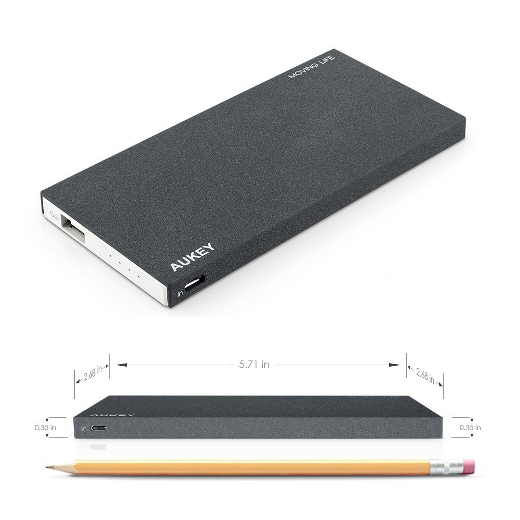 Aukey Portable Power Bank Charger External Battery Pack (8000mAh Li-Polymer 2.1A Output) - image