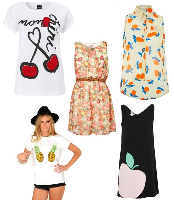 como usar roupa com estampa de frutas