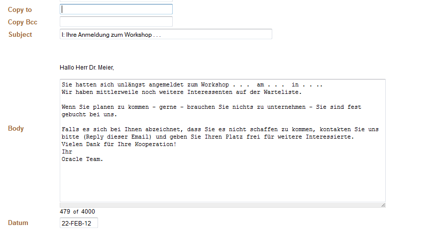 apex htmldb: