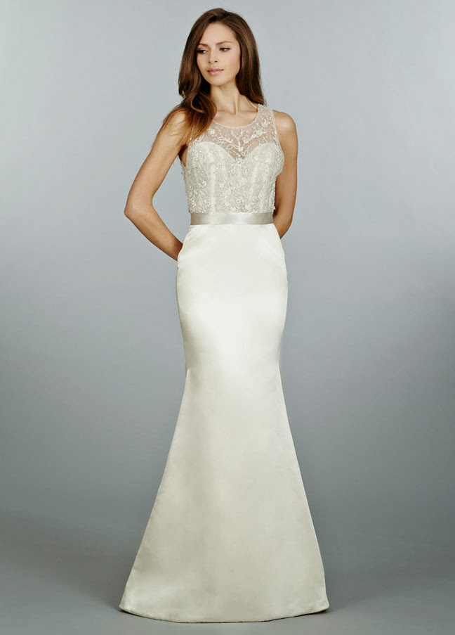Dropped Waist Lace Wedding Dress