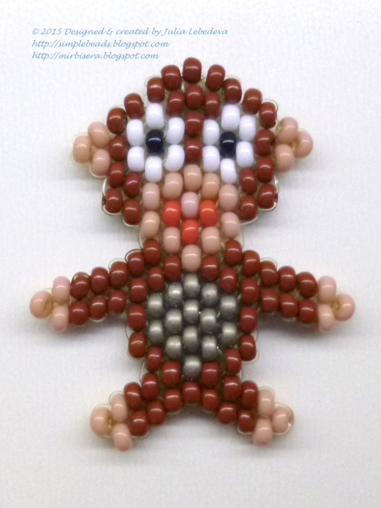 beading for the beginners beaded monkey in brick stitch