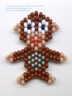 Monkey beaded in brick stitch
