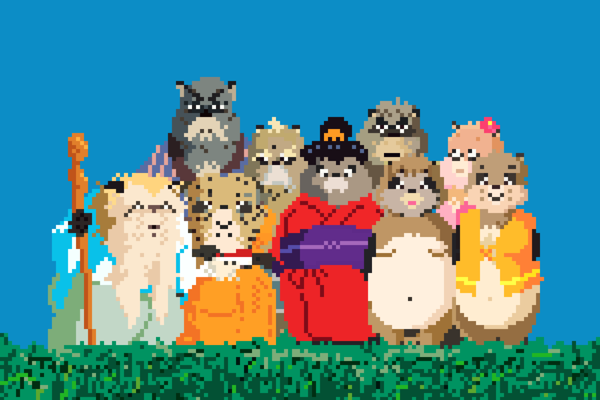 Hayao Miyazaki Ghibli studio film pixel art