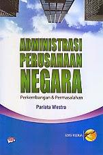 toko buku rahma: buku administrasi perusahaan negara, pengarang pariata westra, penerbit ghalia indonesia