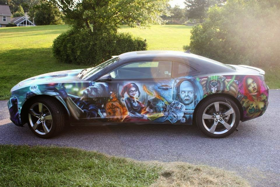 Check out the batman custom car paint job on this new for New paint car