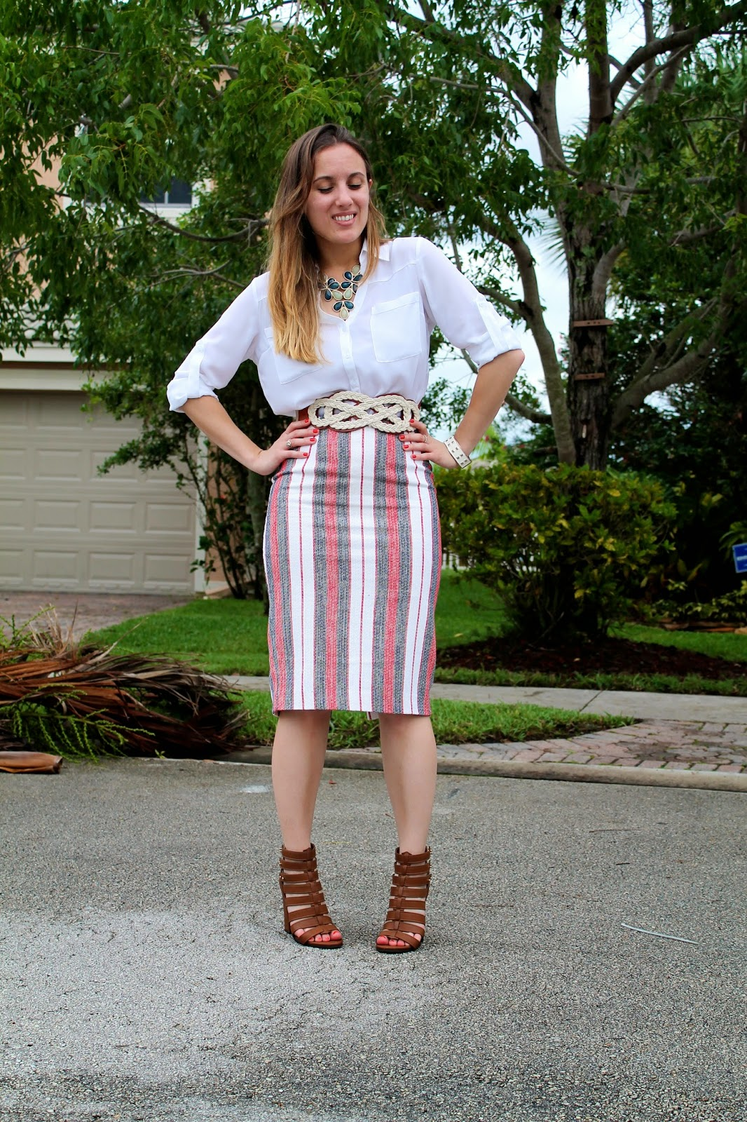 Express, Steve Madden, Anthropologie, ASOS, Forever 21, Nordstrom, July 4th style, street style, Miami fashion blogger, Miami blogger, Miami, what I wore, lookbook, fashion blog, fashion, style, stripes, red white and blue, America