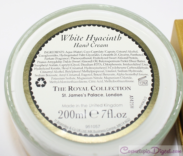 Royal Collection White Hyacinth skincare from Buckingham Palace