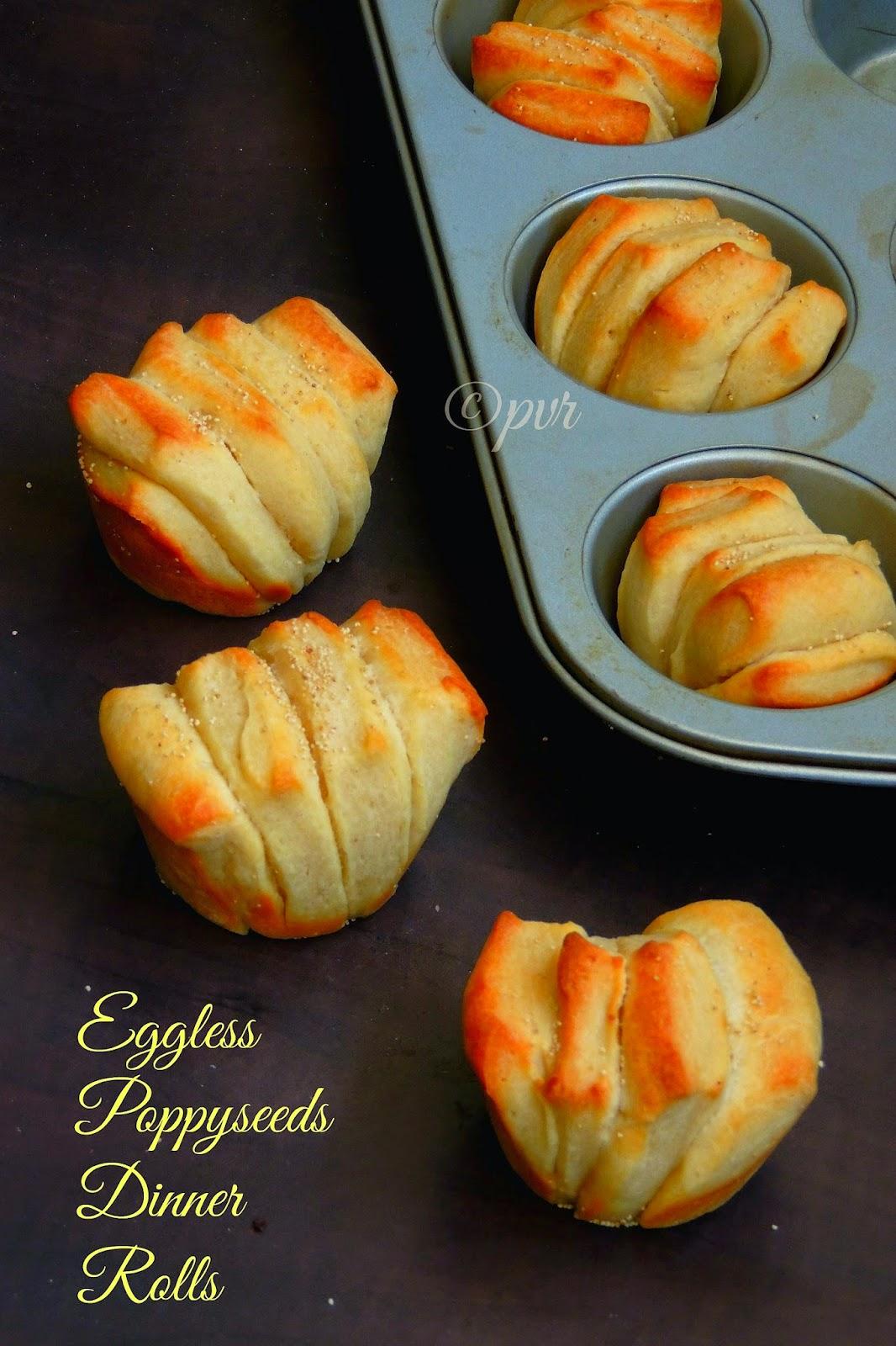 Eggless poppyseeds dinner rolls,Poppyseeds Dinner rolls, Buttery Poppyseeds Dinner rolls
