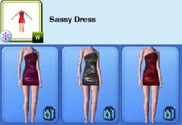 bad size dress sims 3