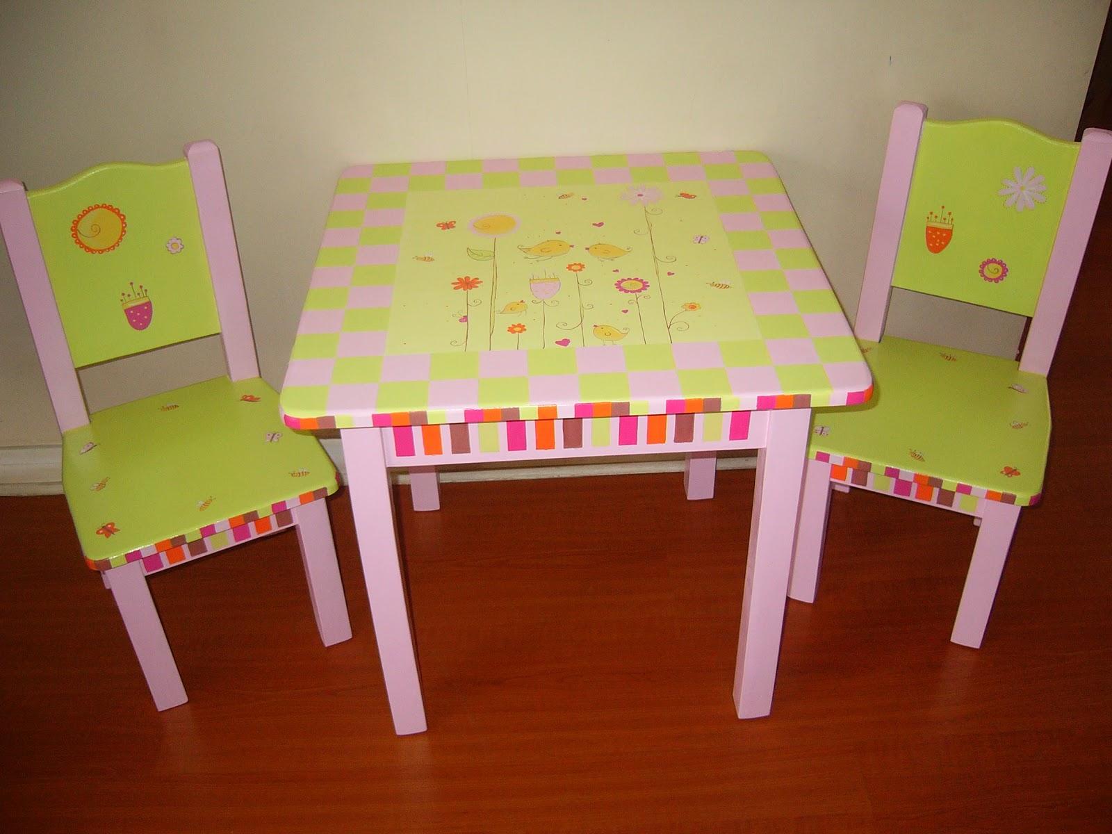 de mesas y sillas tienen un valor de $95000 (excepto la mesita de