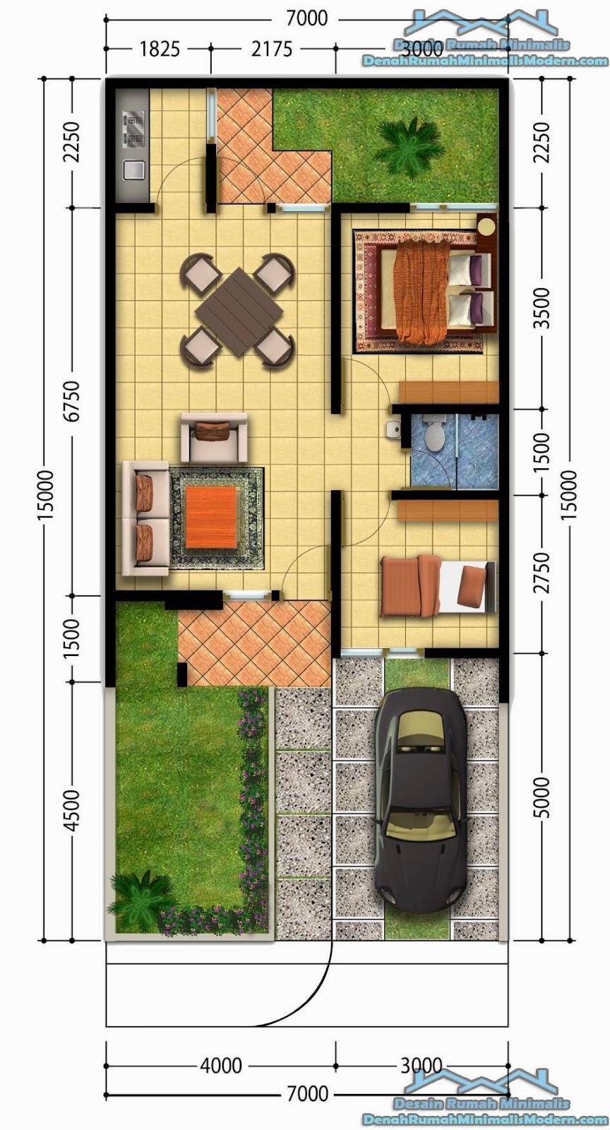 Gambar denah rumah minimalis modern 2015