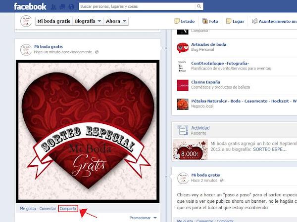SORTEO ESPECIAL: Cómo compartir Carteles de forma pública en Facebook