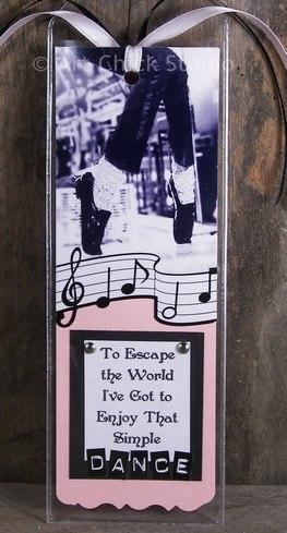 Simple Dance MJ Bookmark Paper Arts