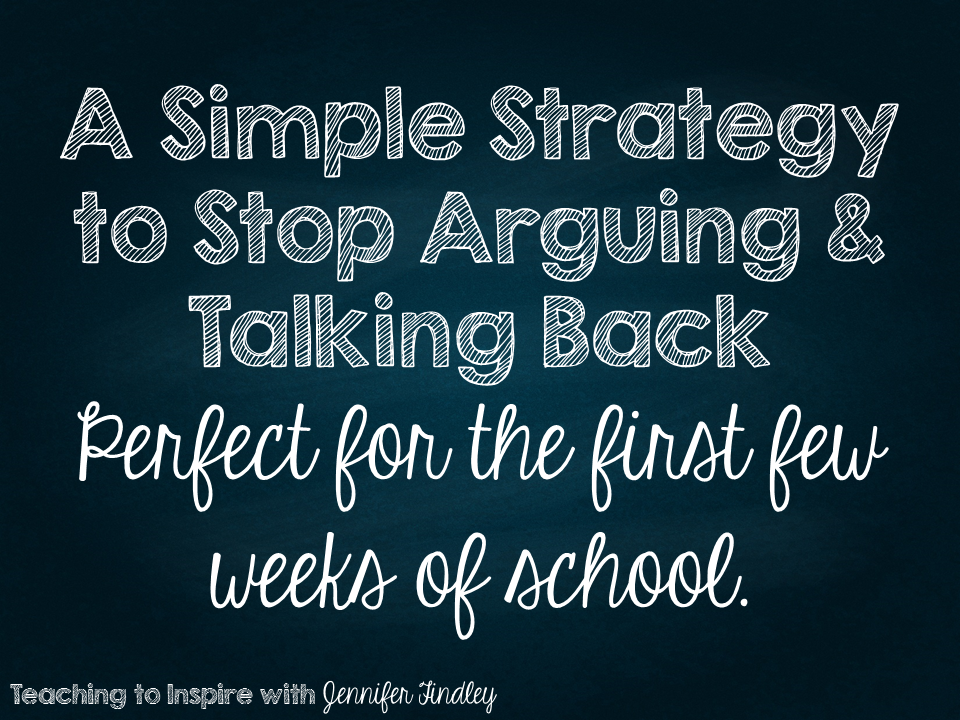 A Simple Strategy to Stop Arguing and Talking Back | Teaching To ...