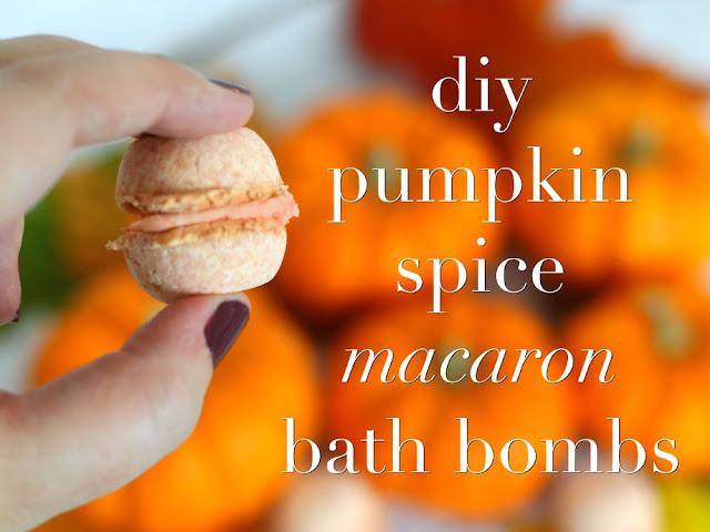 diy pumpkin spice macaron bath bombs