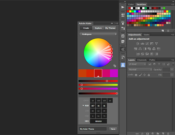 adobe kuler panel for photoshop cc 2014 available on adobe add ons