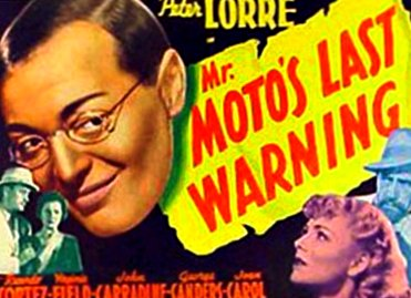 Mr. Moto's Last Warning 1939 FIlm Poster Starring Peter Lorre