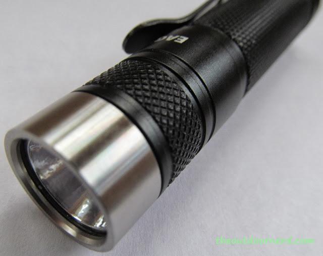 Eagletac D25A Mini 1xAA Flashlight: Another Closeup Of Bezel