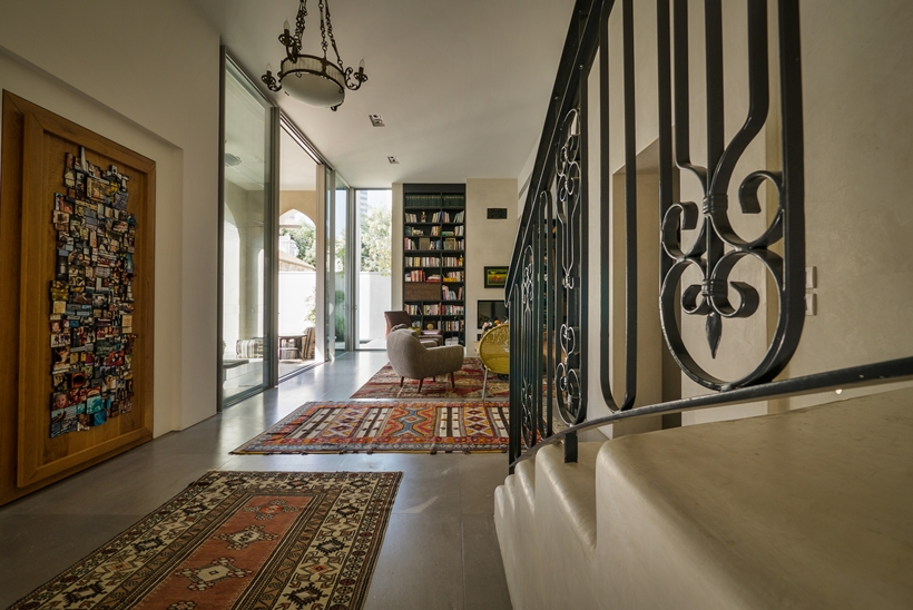 Hallway in the Townhouse decorated in the style of old Neve Tzedek, Israel