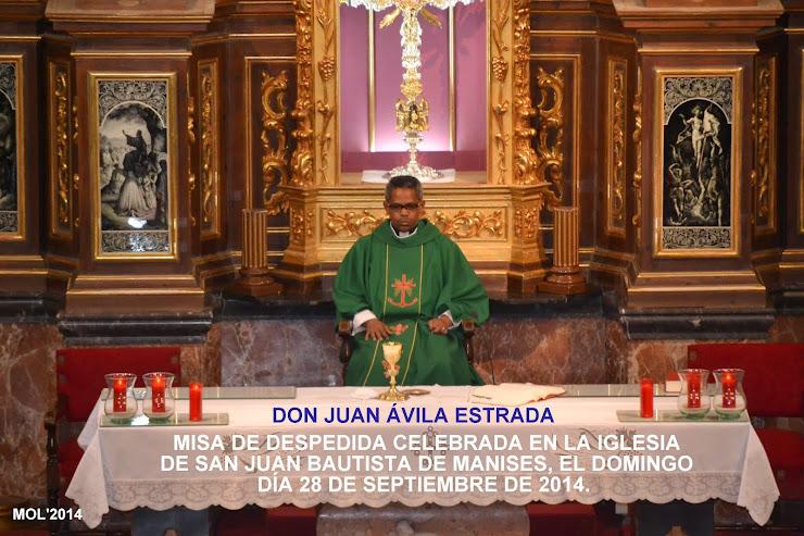MISA DE DESPEDIDA DE DON JUAN ÁVILA ESTRADA
