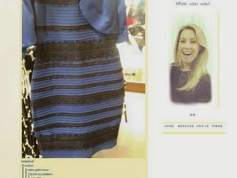 Azul e preto ou dourado e branco? Foto gerou polêmica nas redes sociais.