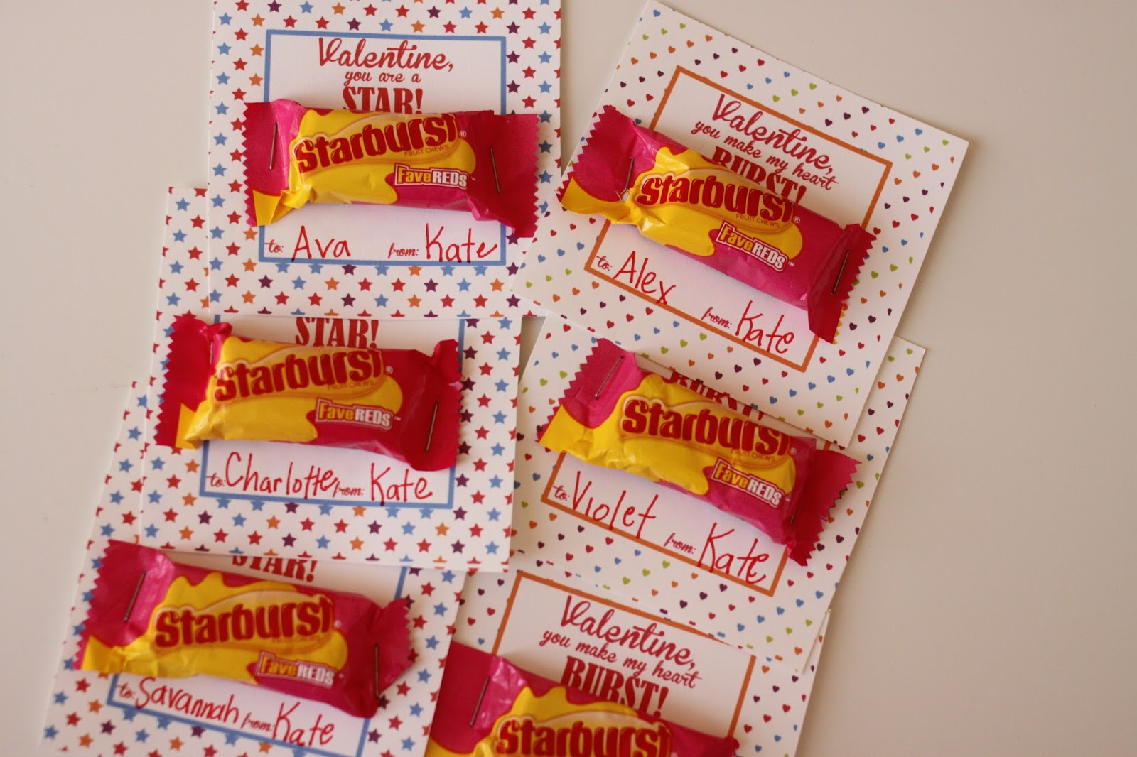 picture about Starburst Valentine Printable identified as The Larson Lingo: Starburst Valentine Strategies No cost Printable