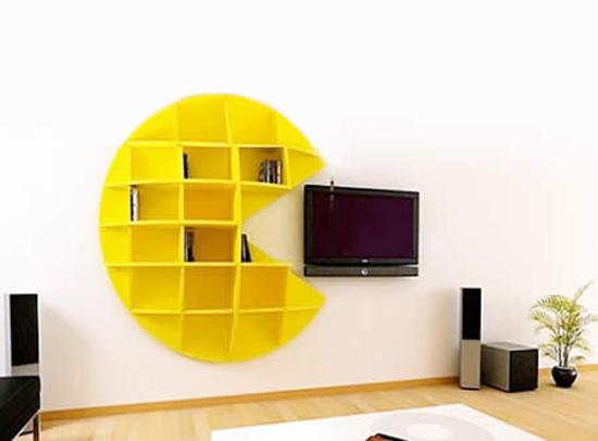 Rak buku Pac Man