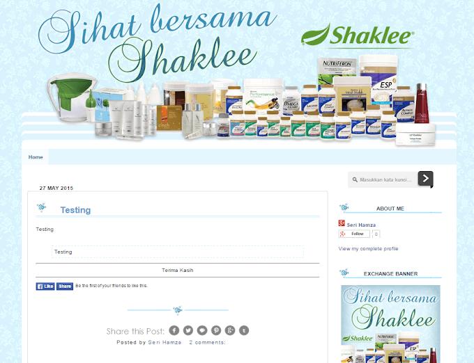 Tempahan Design Blog Sihat Bersama Shaklee