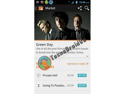 Google Music store screenshots leak, Google Music Store, Greenday