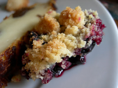Le brunch chez Casimir. Crumble cassis