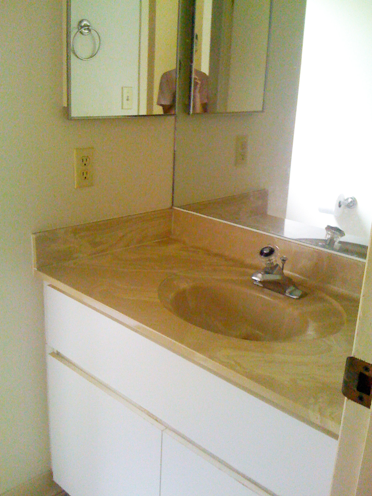 Mirror for Bath Vanity in Half