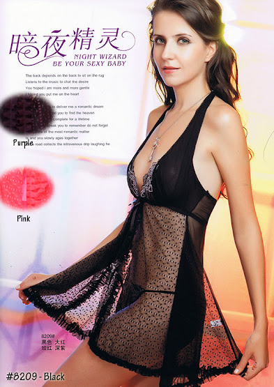8209 : Colour Available : BLACK only, Size Fits Most S & M with G-string RM 49 EACH