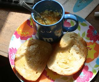 Mmm lovely breakfast today